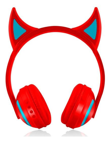Fone De Ouvido Diabinho Led Bluetooth Exbom Hf-c242bt