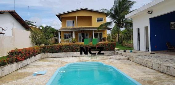 Casa Com 4 Dormitórios À Venda, 580 M² Por R$ 950.000,00 - Barra Do Jacuípe - Camaçari/ba - Ca3238