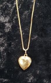 Colar Com Pingente Coração De Ouro