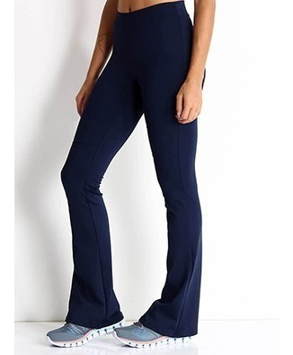 Calças Femininas Flare Legging Cintura Alta Suplex