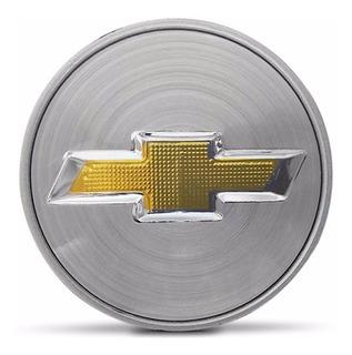 Calota Centro Roda Gm 55mm Prata C/dourado Astra Captiva