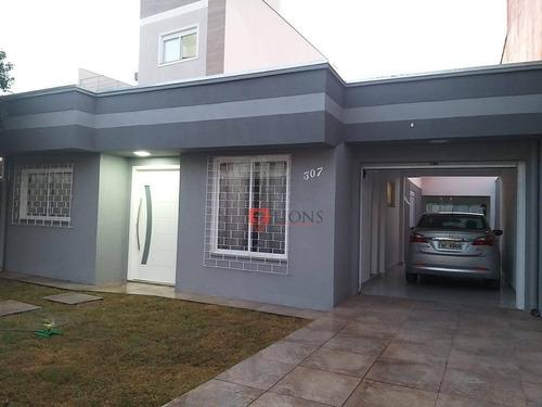 Casa Com 4 Dormitórios À Venda, 160 M² Por R$ 580.000 - Parque Olinda - Gravataí/rs - Ca1303