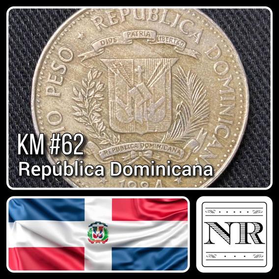 Dominicana - 1/2 Peso - Año 1984 - Km #62 - Derechos Humanos