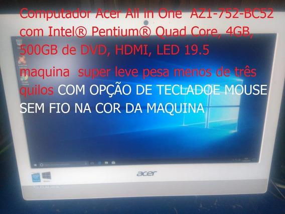 Acer All In One Az1-752-bc52 Hd500gb 4gb Ram Tela 16.5 Led