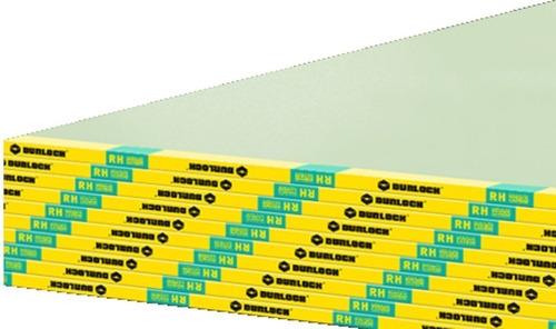 Placa Durlock Resistente Humedad 12,5mm 1,20 X 2,40 Mts