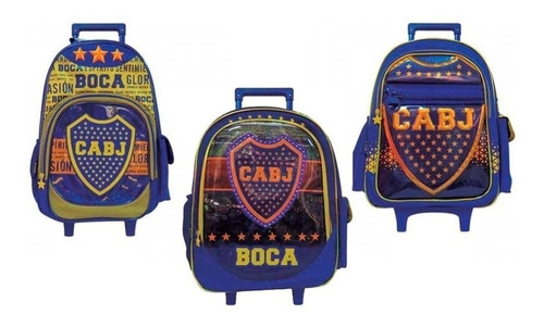 Mochila Boca Juniors Carro 18p Futbol Ct Plumitaa Frv