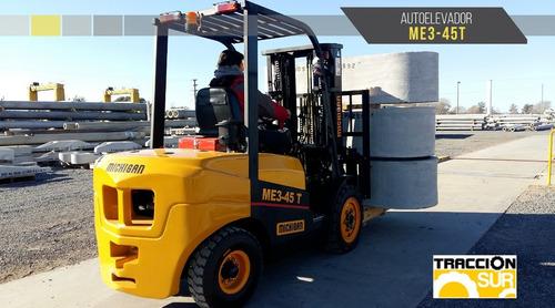Elevador Michigan, Me345t - 3 Tn 4.5 Mt Nuevo Diesel Usd Ofi