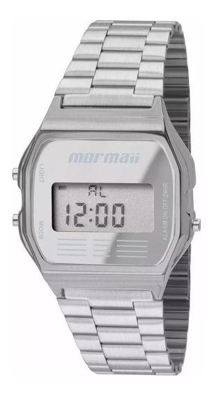 Relógio Mormaii Unissex Digital Prata - Mojh02aa/3c Original