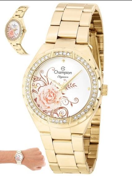 Relógio Champion Feminino Dourado Cn25476h