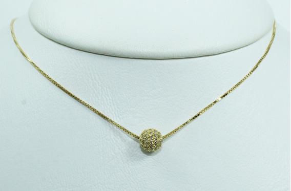 Pocao2005- Colar De Ouro 18k75 Diamantes 12x S/j Ft/gt C299