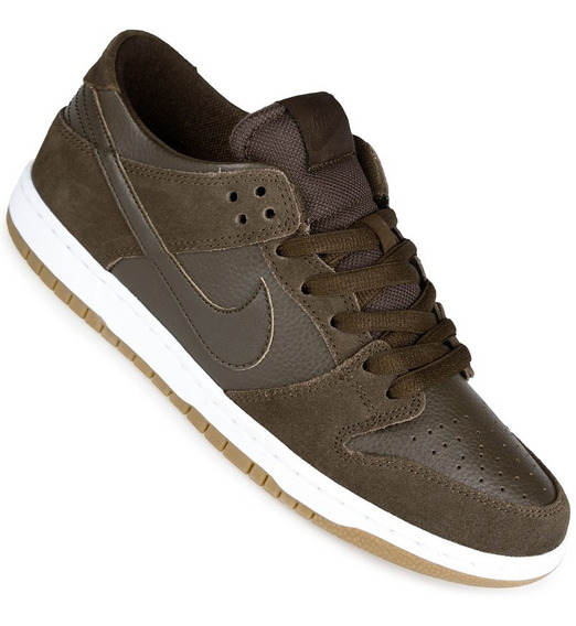 Zapatillas Nike Sb Modelo Dunk Low Gris Azul