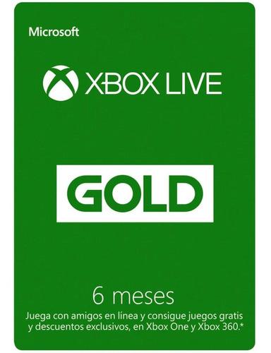 Imagen 1 de 3 de Xbox Live Gold 6 Meses Membresía.