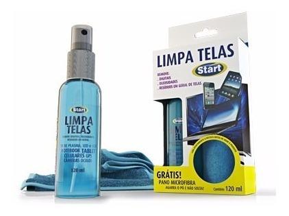 Limpador De Telas Multiuso 120ml C/ Pano Microfibra-start