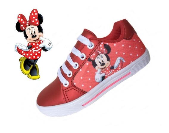 Tênis Infantil Disney Personagem Desenho Homem Aranha Minnie