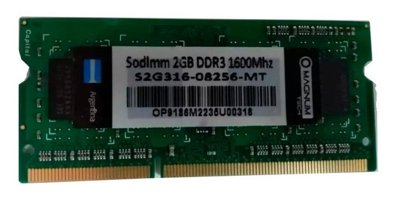 Memoria Sodimm Original Magnum Tech Ddr3 2gb 1600mhz