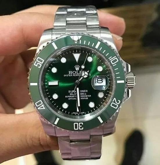 Relógio Gmt Submariner Automático Inox / Vidro Safira