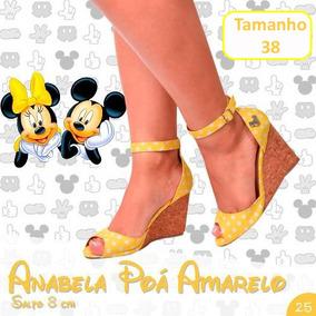 7f270f5fe7 Sapato Boneca Anabela Amarelo - Sapatos no Mercado Livre Brasil