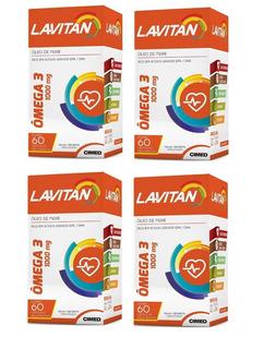 4 Potes Lavitan Omega 3 C/60 Cáp - Melhor Que Catarinense