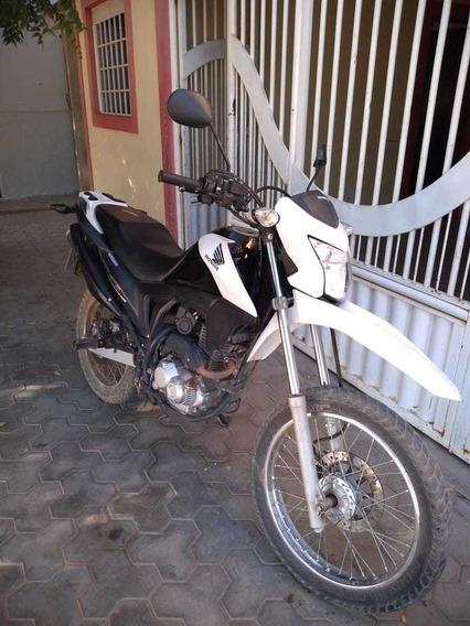 Honda 160 Nxr Cc 2016 Preta C/ Branco