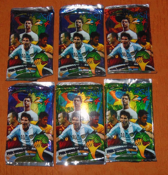 Lote 9 Envelopes Lacrados Cards Copa 2014 Produto Argentino