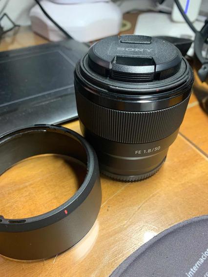 Lente Sony 50mm1.8 Fe. Sem Arranhão E Desconto Pág À Vista!