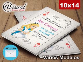 20un - Convite Alice - 10x14cm (c10bpg)