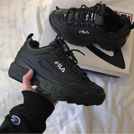 Zapatillas Fila Disruptor Negras 39 (poco Uso)