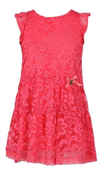 Vestido De Encaje Con Aplicaciones (26012)