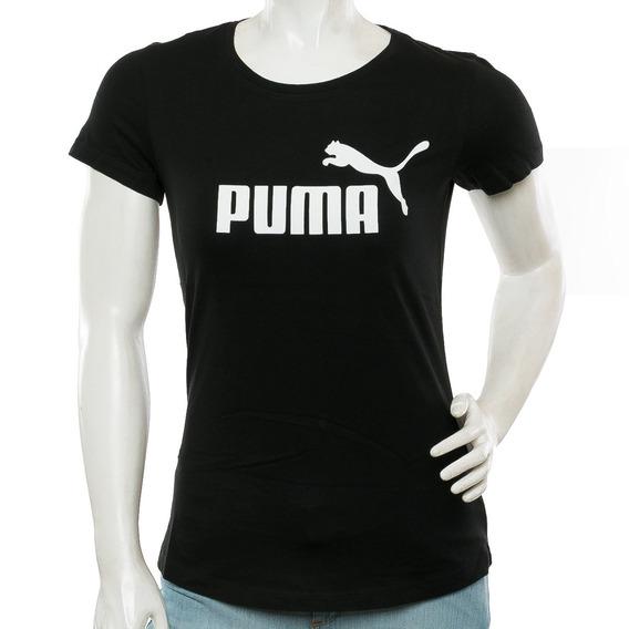 Remera Essential Logo Black Puma Puma Tienda Oficial