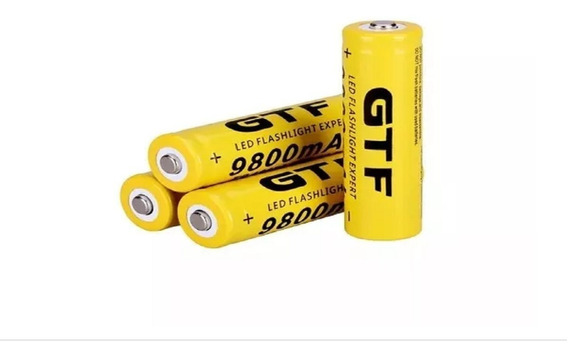 Kit 4 Baterias Recarregaveis 18650 9800mah 3,7v Barato