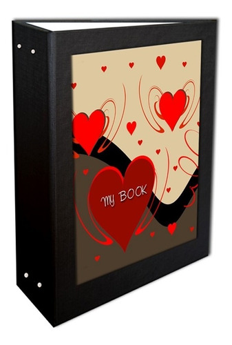 Álbum My Book 3 Corações 10x15 - 240 Fotos + Brinde Especial