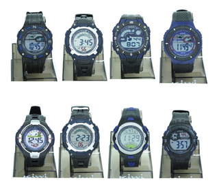 Reloj Digital Hombre Kiwi Ki02 Azul 1/2 Ct Plumitaa Impc