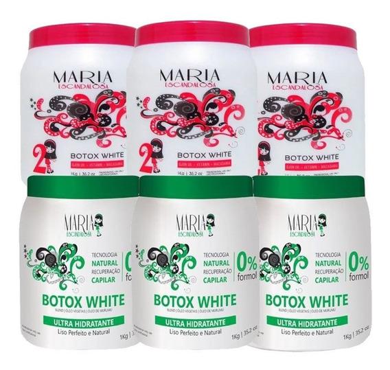Kit 3 Botox White E 3 Botox Sem Formol - Maria Escandalosa 1kg