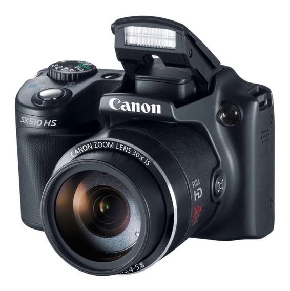 Canon Powershot Sx510 Hs Com Capa + 2 Bateria + Cartão 32g