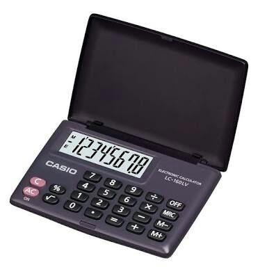 Calculadora Casio Lc-160lv Tam.8.7x5.8cm Com Nfe E Garantia