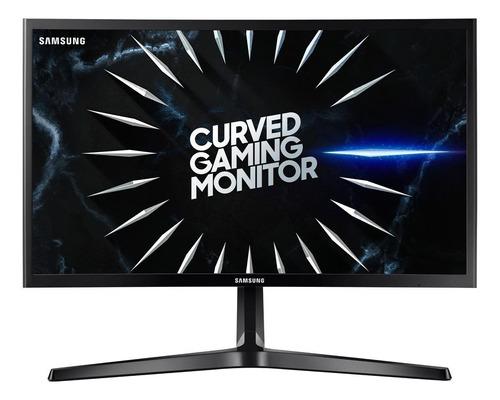 """Imagem 1 de 9 de Monitor gamer curvo Samsung Odyssey C24RG5 led 24"""" preto 100V/240V"""