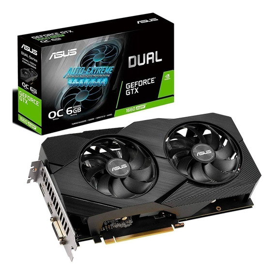 Placa de video Nvidia Asus GeForce GTX 16 Series GTX 1660 SUPER DUAL-GTX1660S-O6G-EVO OC Edition 6GB
