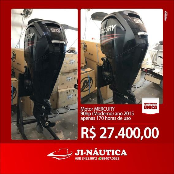 Motor De Popa Mercury - 4t - 90 Semi Novo 2015