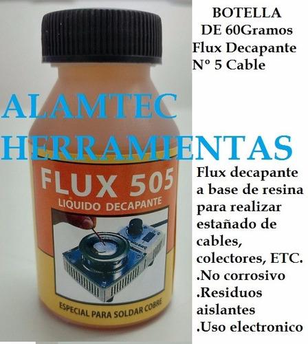 Flux Decapante Eximetal 505 Liquido 60gr No Corrosivo