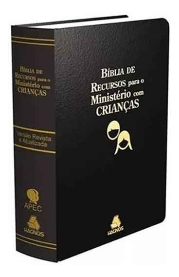 Bíblia De Recursos Para Ministério Com Crianças Luxo Preta