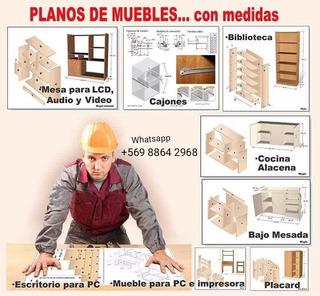 Libros Y Planos Para Hacer Creaciones De Madera Muebles Y Má