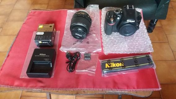 Camera Nikon D3100 Com Objetiva 18 55mm