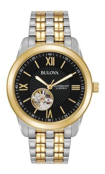 Relógio Bulova Automatico Misto Wb32004p / 98a168