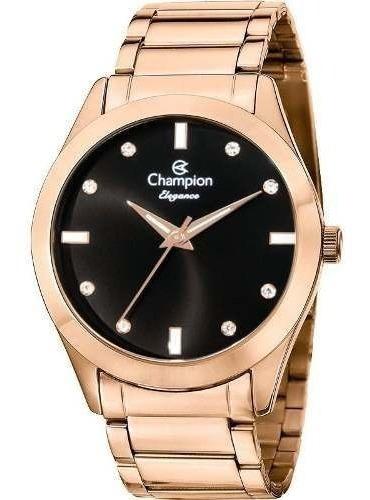 Relogio Feminino Champion Elegance Cn25930p Original
