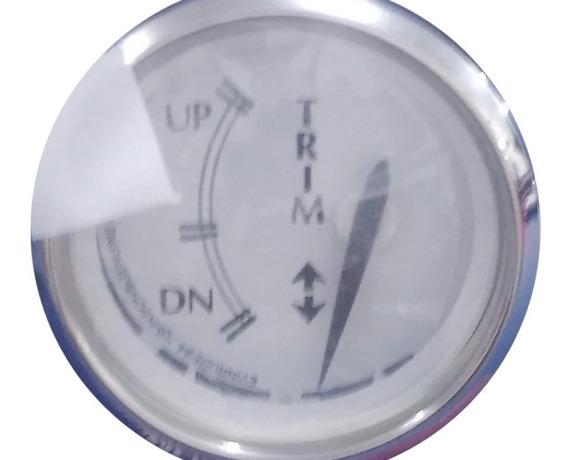 Relógio Do Trim Evinrude/johnson Branco Com Aro Cromo 775798