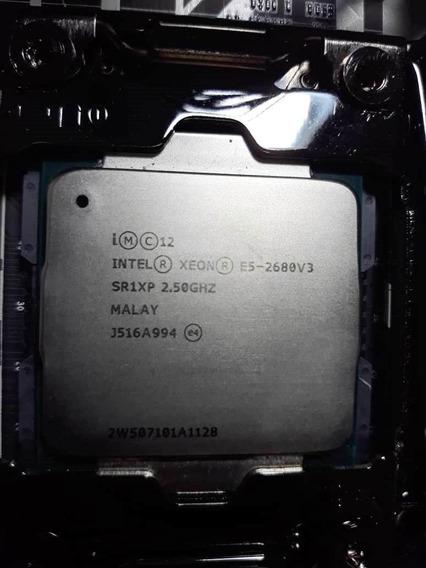 Processador Intel Xeon E5-2680 V3 12 Cores (nucleos) Com Cooler Original + Pasta
