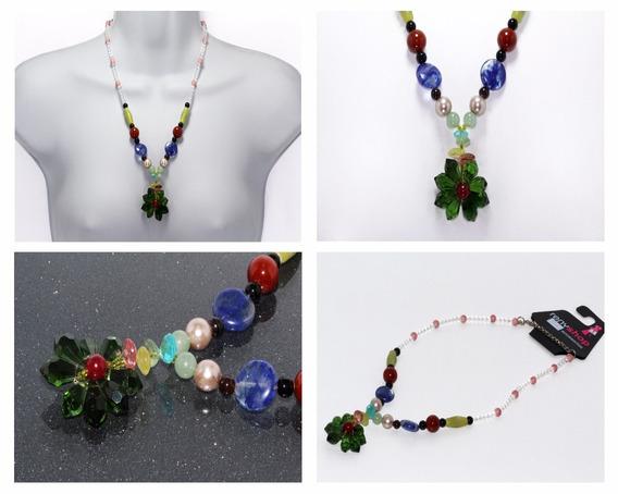 Collar Piedra Natural Dama Mujer Cuarzo Agata Moda Ccpn178