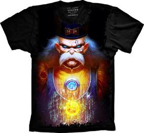Camiseta 5%off Plus Size Anime Dragon Ball Dr Gero
