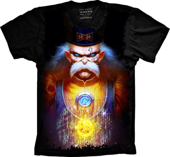 Camiseta Plus Size Anime - Dragon Ball - Dr Gero
