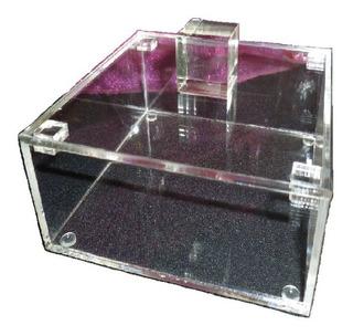 Caja Acrilico De 13x13x5 Cm De Alto Con Tapa